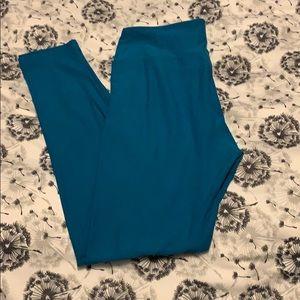 Lularoe teal blue one size leggings